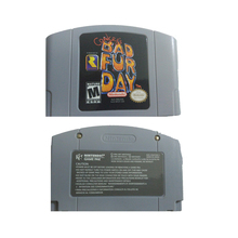 New N64 Conker's BOD FUR DAY USA PAL Version Cartridge for 64Bit Video Game Console the newest snes 16 bit game console ntsc version and pal version