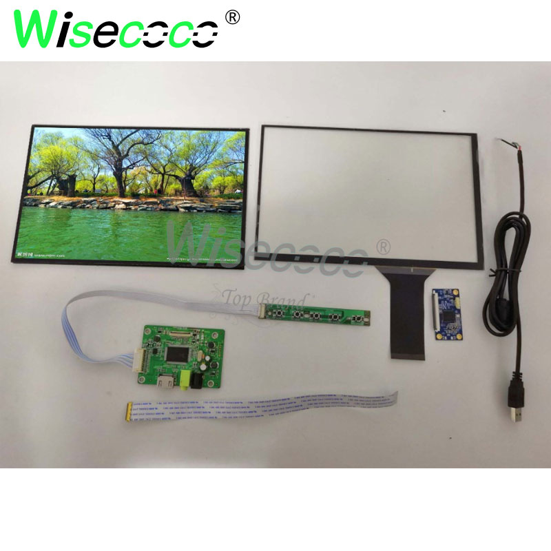 1920 *1200 <font><b>10.1</b></font> inch LCD <font><b>Display</b></font> Screen with capative touch panel Monitor Remote Driver Control Board 2AV HDMI For Raspberr image