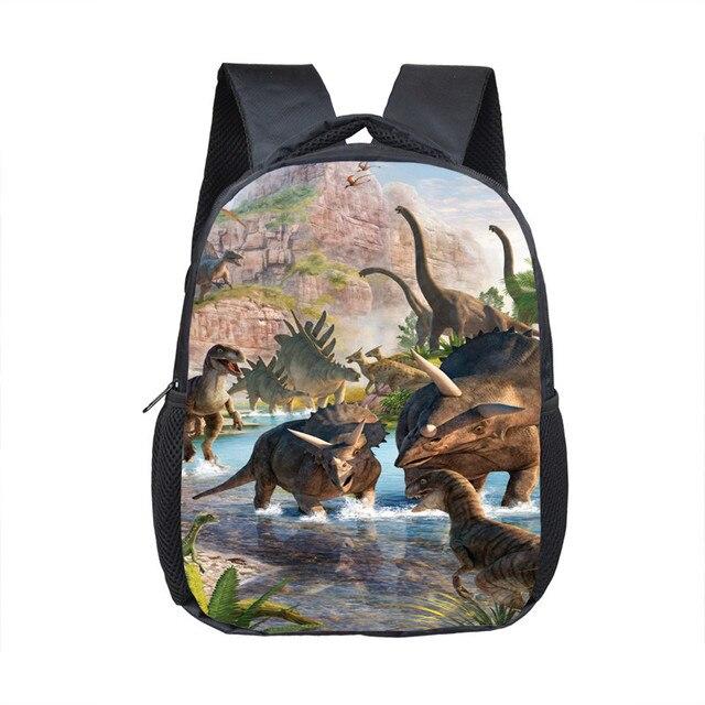 12 Inch Animals Dinosaur Backpacks 3D Dinosaur Children School Bags Baby Toddler Bag Boys Backpack for Kids Kindergarten Bags 2