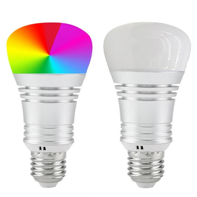 E14 E27 B22 WiFi bulb RGB smart light 15W Led Light Bulbs Remote Mobile Phone Control Smart Bulb RGB Smart Light Bulb