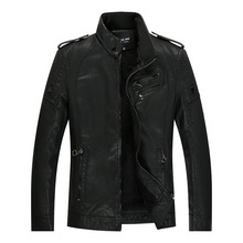 PUIMENTIUA  Men's Leather Jacket Winter Slim Fashion Mens Solid PU Jackets Clothing Male Stand Motorcycle Jacket Dropshipping