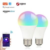 Tuya Zigbee 3,0 Smart E27 LED Glühbirne Lampe Smart Leben APP Control RGB + W + C Dimmbare Arbeit mit Alexa Google Home Automation
