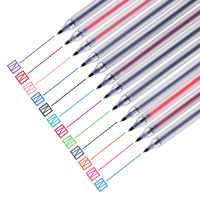 12 stylos de couleur pour dessin écriture soulignant marqueur de doublure Transparent mat 0.5mm stylo à bille papeterie école F808