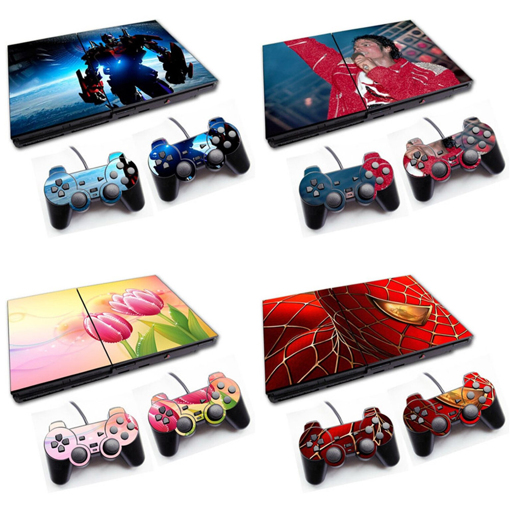 For PS2 Slim 70000 Console Skin Sticker