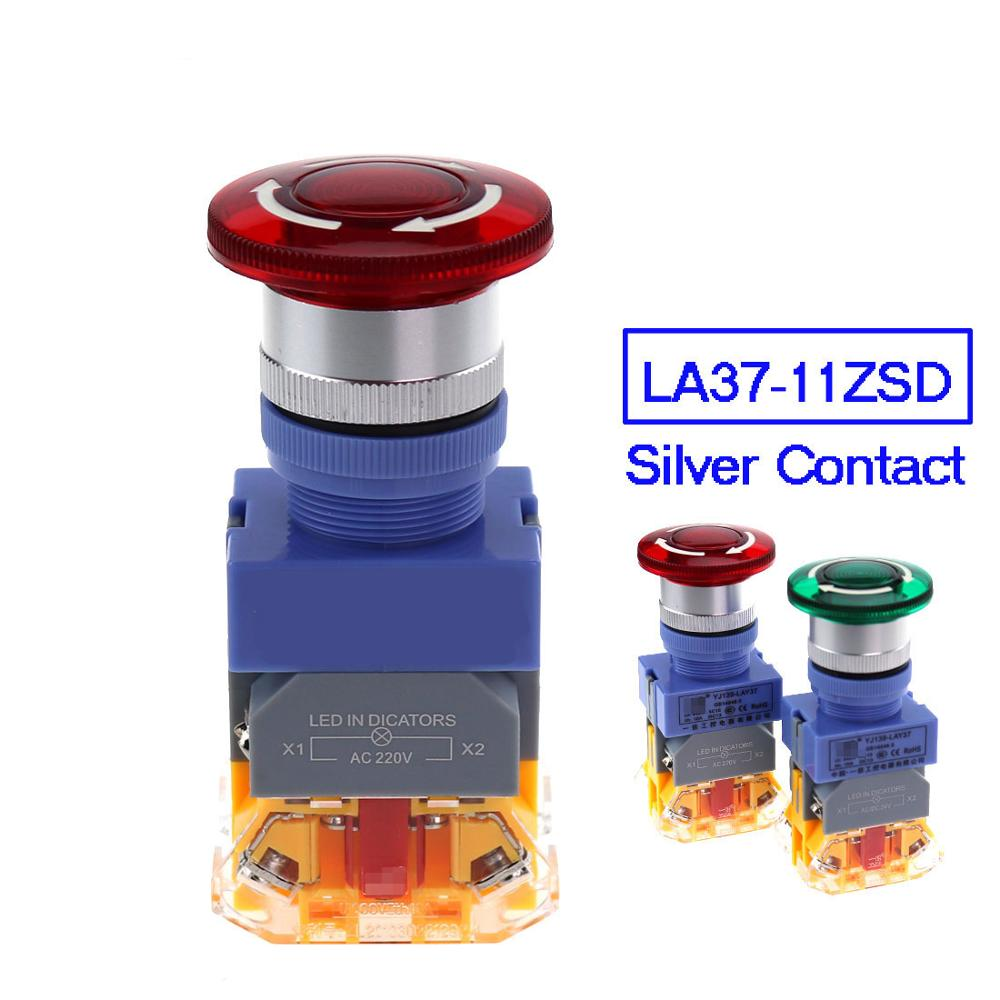 Emergency stop light power <font><b>22mm</b></font> <font><b>switches</b></font> mushroom head on off pushbutton <font><b>led</b></font> <font><b>switch</b></font> lay37 lay7 Y090 image