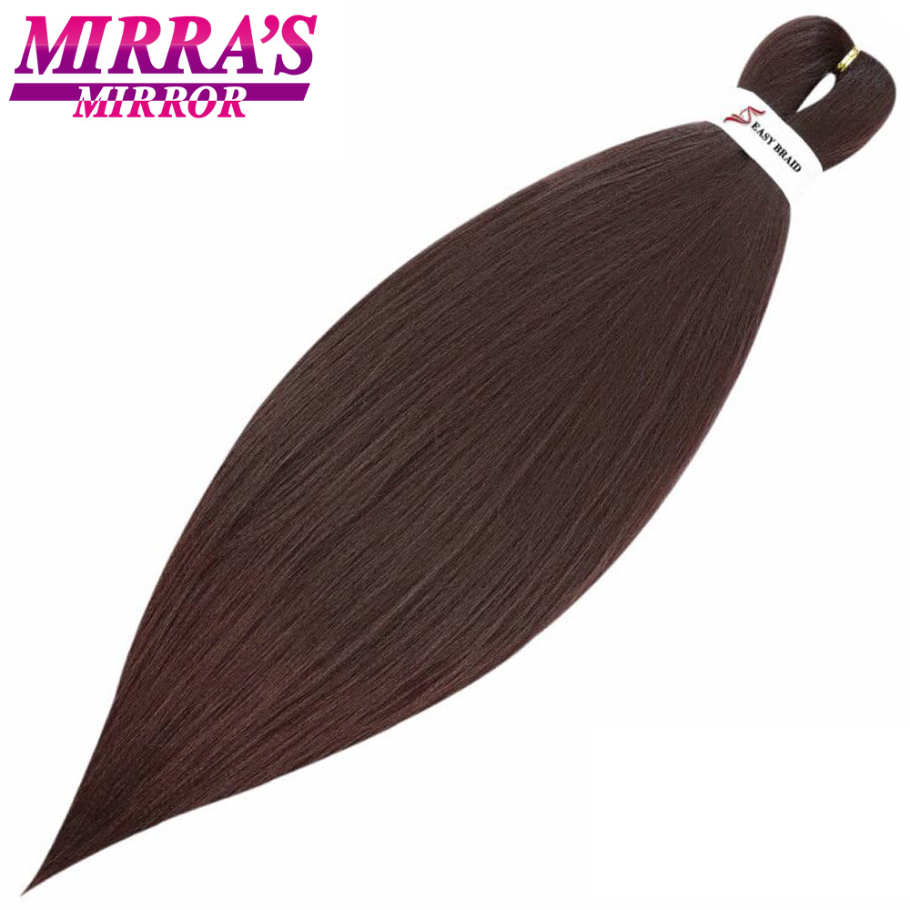 Mirra's Mirror Pre-Stretched Easy Jumbo Braids Hair Ombre Braiding Hair Extensions Yaki Crochet Braids Synthetic Hair 2 Tone 26