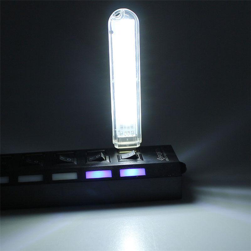 HiMISS Mini USB Power 8 LED Night Light Portable 5V Reading Lamp For Power Bank Computer Laptop Table Lamp Warm White Light