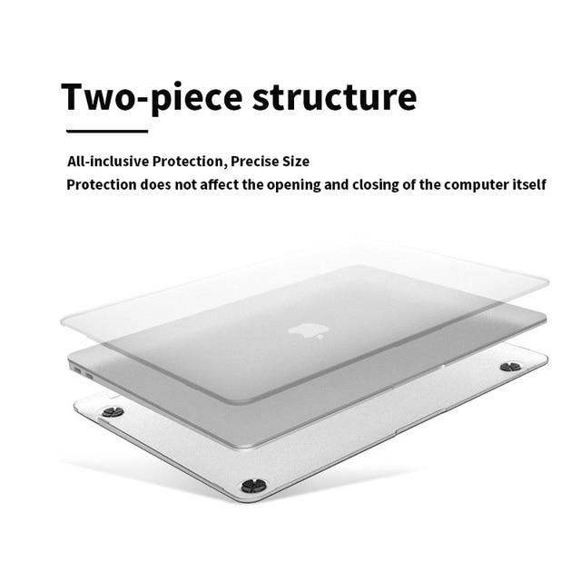 Mat givré étui pour ordinateur portable pour Apple MacBook Air Pro 16 15 13 12 pouces étui nouveau Pro 13 A2289 A2159 2020 couverture avec barre tactile