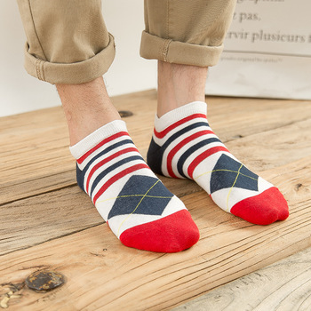 Men's National Flag Cotton Sock Slippers Breathable Male Non-Slip Invisible Boat Socks American flag Striped Ankle Socks fashion patterned women ankle breathable low sock seamless invisible socks slippers female cotton boat printed short socks