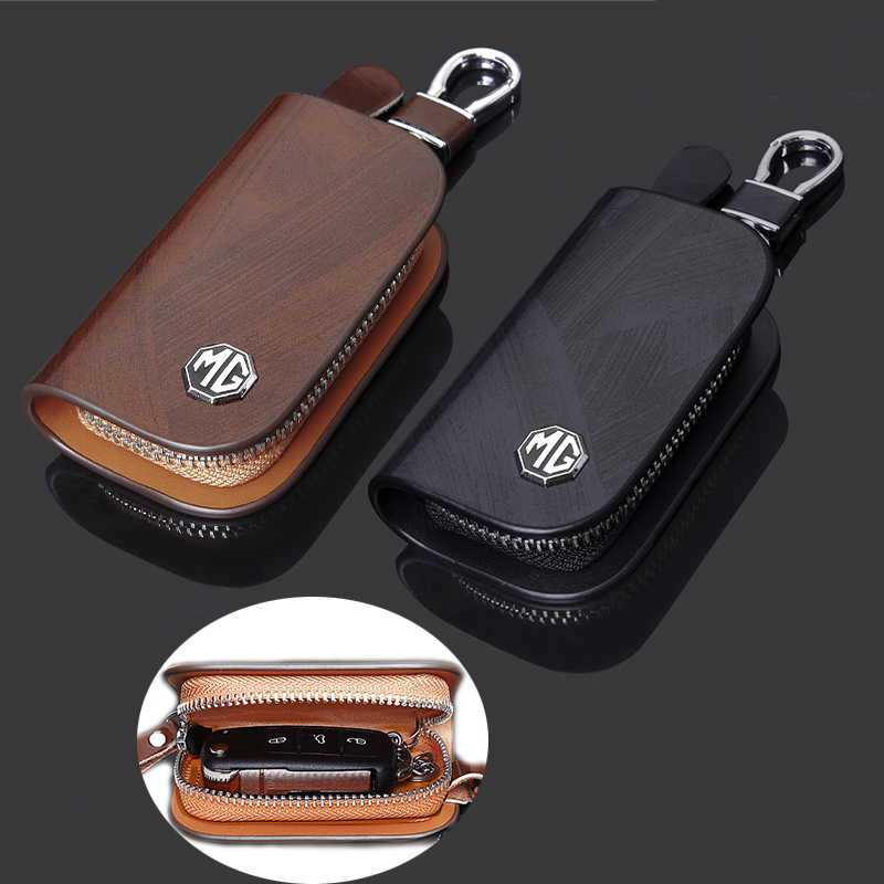 Car Key Cover Case Bag for Peugeot 207 208 301 306 307 308 407 508 MG 7 6 Saloon 3SW TF3 Logo KeyChain Wallet Accessories image