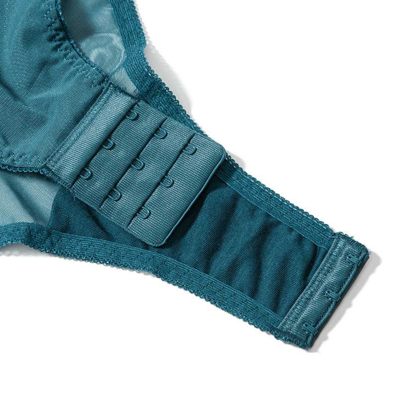 Body lencería Sexy para mujer con encaje Push Up Balconette sujetador con lazo decoración con alambre plumas de pavo real calado modelador de espalda para mujer
