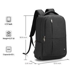 Image 3 - Oiwas 17 дюймовый рюкзак для ноутбука с USB зарядкой, мужские рюкзаки, большой объем, деловой рюкзак для женщин и мужчин, Подростковая дорожная сумка