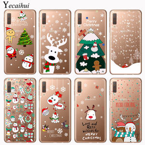 Christmas New Year gift elk snow phone Case For Samsung Galaxy A30 A40 A50 A70 2019 A7 A6 A8 A9 Plus 2018 TPU soft Silicone Case