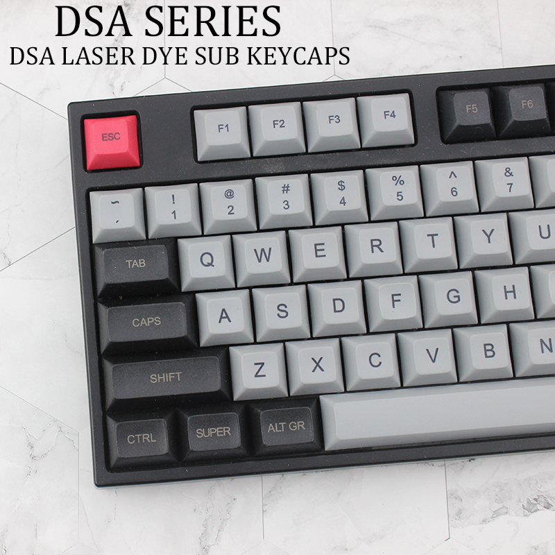 DSA Light Gray Black Keycap PBT Top Laser Etching Mechanical Keyboard For Xd64 87 104 Xd75 Xd96 Xd84 Switch Shaft Cherry Of Lung