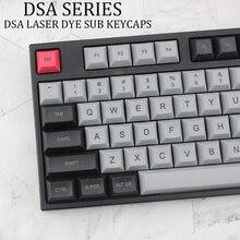 DSA Light Gray Black Keycap PBT Top Laser Etching Mechanical Keyboard For Xd64 87 104 Xd75 Xd96 Xd84 Switch Shaft Cherry Of Lung dsa keycap dye