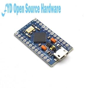 Image 3 - 1 adet Pro mikro ATmega32U4 5V 16MHz değiştirin ATmega328 Arduino Pro Mini için 2 satır Pin başlığı ile leonardo için Mini Usb arayüzü