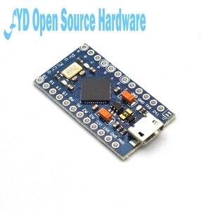 Image 3 - 1 pces pro micro atmega32u4 5v 16mhz substituir atmega328 para arduino pro mini com 2 cabeçalho do pino da fileira para leonardo mini interface usb