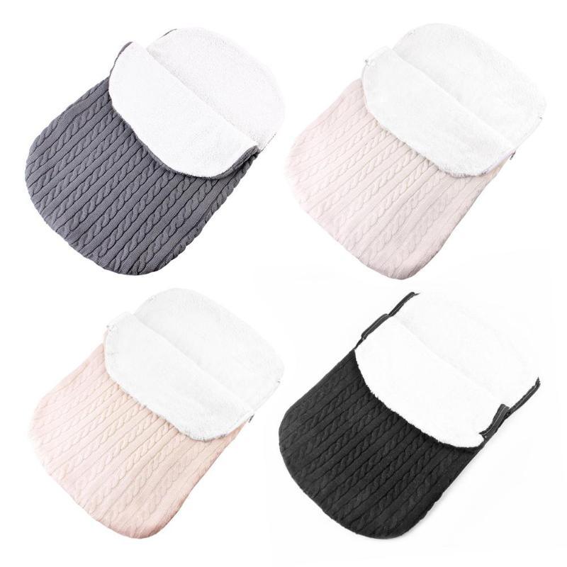 Baby Stroller Sleeping Bag Winter Warm Thicken Velvet Knit Cover Newborn Supply Meticulous Weaving Good Warmth Retention