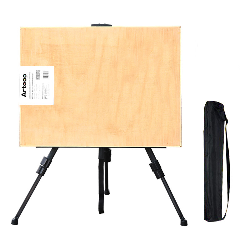 Sketch Easel Drawing Board Set Foldable Black And White With Pattern Iron Easel + 4k Drawing Board Tripod Sketch Painted