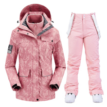 Ski Suit Women Winter Skiing Snowboarding Clothes Thick Warm Waterproof Ski Jackets Outdoor Snow Jacket + Pants for Women Brand