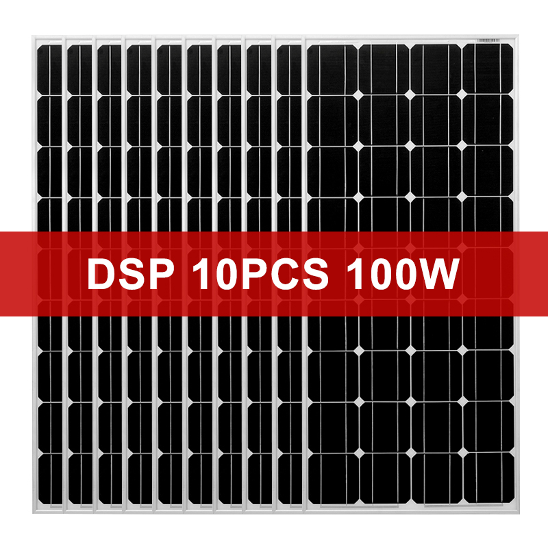 Dokio 1000w 12V Monocrystalline Tempered Glass Solar Panel For Home Waterproof 18V Solar panel China