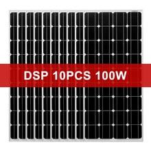 Dokio 1000w 12v monocristalino painel solar de vidro temperado para casa à prova d18 água 18v painel solar china