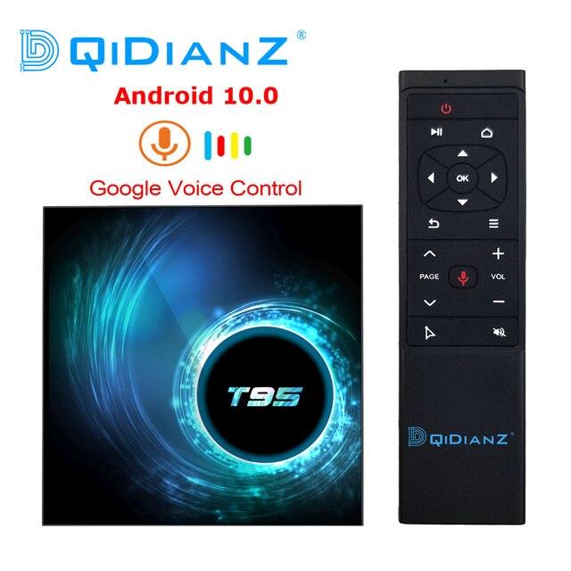 Новый Android 10,0 T95 Smart TV Box 4 ГБ 32 ГБ 64 Гб Allwinner H616 четырехъядерный 1080P H.265 4K медиаплеер 2 Гб 16 Гб телеприставка