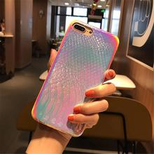 Colorful 3D Mermaid Fish Scale Soft Case for iPhone 11 Pro XS Max XR X Transparent Silicone Gradient Cover for iPhone 7 8 6 Plus-in Fitted Cases from Cellphones & Telecommunications on AliExpress