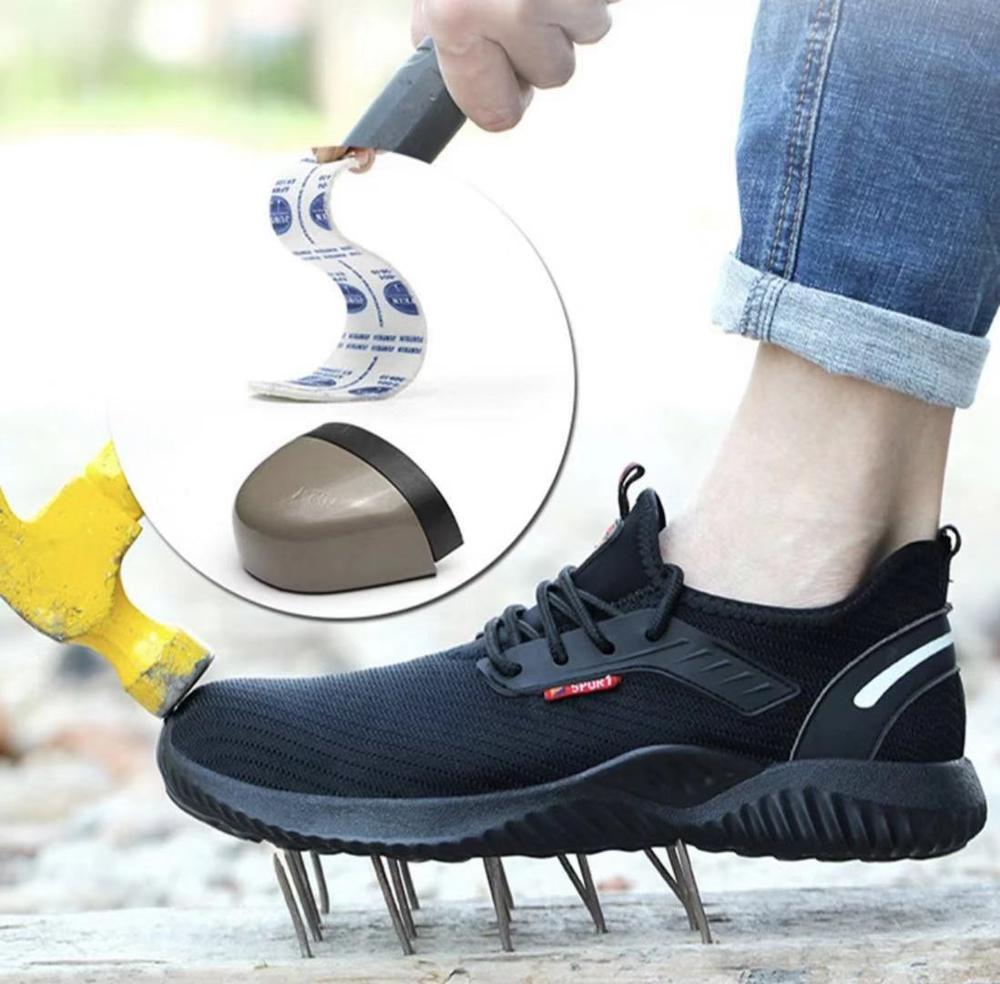 Мужская Рабочая обувь со стальным носком; Повседневные Дышащие уличные кроссовки; непромокаемые ботинки; удобные промышленные ботинки для мужчин|Походная обувь|   | АлиЭкспресс