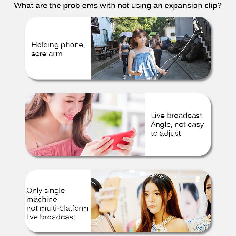 2020 Telefoon Houder Mobiele Telefoon Stand Houder Voor Ring Licht Statief Fotografie Dslr Camera Stuur Adapter Mount Verstelbare Hoek