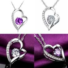 Женское ожерелье с подвеской в виде сердца новое модное роскошное