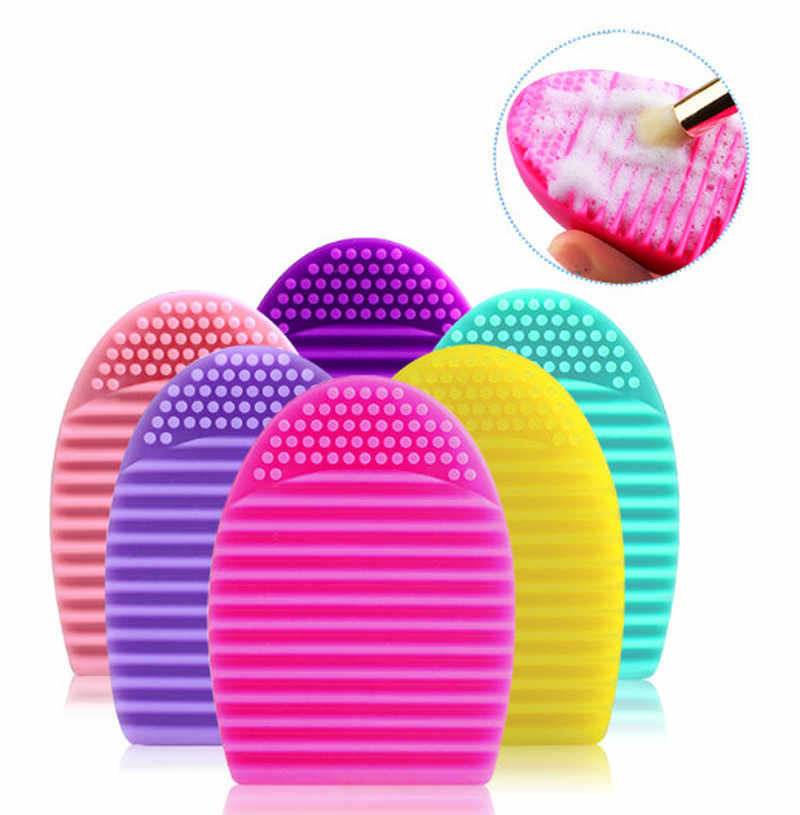 1PC nowy żel krzemionkowy makijaż szczotka do czyszczenia narzędzi do mycia pokładzie kosmetyki pędzle do makijażu Płyta do szorowania szczotka do mycia narzędzie do czyszczenia