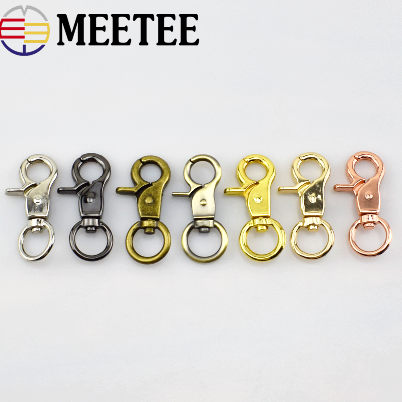 10x Keychain Key Ring Buckle Bag Clasps Swivel Trigger Clips Snap Hook Lobster