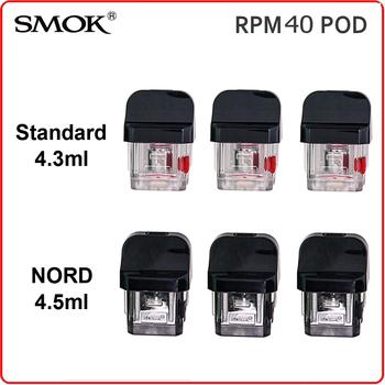 Oryginalny SMOK RPM40 strąki RPM 40 Nord Pod Standard 4 5ML pusty wkład bez cewki elektroniczny papierosowy rozpylacz do waporyzatora parownik tanie i dobre opinie Tank Replacement SMOK RPM Pod Z tworzywa sztucznego SMOK RPM40 KIT Plastic