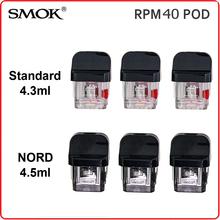 Oryginalny SMOK RPM40 strąki RPM 40 Nord Pod Standard 4 5ML pusty wkład bez cewki elektroniczny papierosowy rozpylacz do waporyzatora parownik tanie tanio Tank Replacement SMOK RPM Pod Z tworzywa sztucznego SMOK RPM40 KIT Plastic