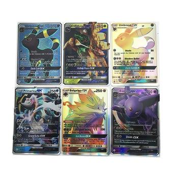 30pcs Pokemon Cards TCG Combat Flash Shining Card Pokemon Sun Moon GX Trading card new pokemon sun