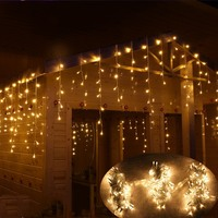 Outdoor Street Garland 5/8/12M Waterproof Connecter Icicle Lights Decors for Yard Eaves Roof Corridor Porch Gazebo UK EU Plug in