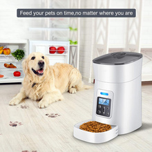 4L Automatic Pet Feeder Dog Food Dispenser with Distribution Alarm Voice Recorder Programmable Timer Cat Feeder Up to 6 Meals