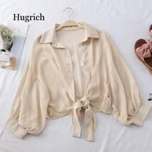 Женские шифоновые блузки на пуговицах с коротким рукавом Элегантные