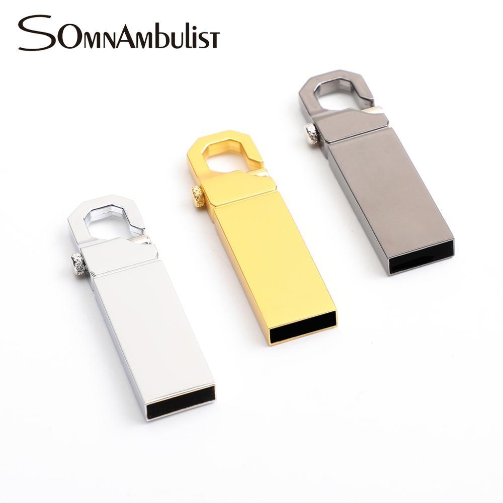 Stainless Steel USB 2.0 Pen Drive  128gb Usb Flash Drive 16gb 32gb 64gb  Flash Drive
