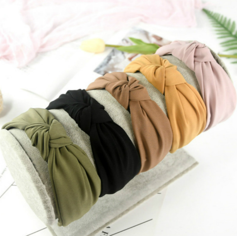 HOT INS Bow Knot Sport Hairbands Women Headwear Turban Hair Head Hoop Yoga Simple Sweet Girls Hair Headband Accessories
