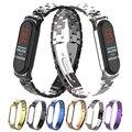 Ремешок из нержавеющей стали для xiaomi mi band 3 4  металлический ремешок для часов  умный Браслет mi band 3  сменные ремешки для часов mi 3 4