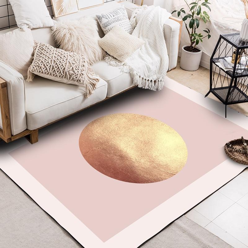 Nordique luxe mode moderne golden planet tapis tapis de chevet en peluche chambre salon paillasson sur mesure tapis de sol antidérapant