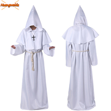 Horror Costume Grim Reaper Monk Cosplay Halloween Costumes For Men Robe Scary Wizard Day Of The Dead Clothes