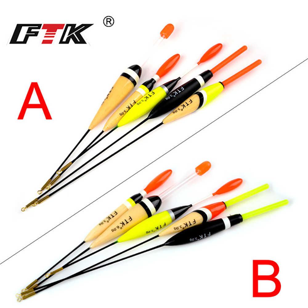 FTK 5 ชิ้น/ล็อต Barguzinsky 3g6g ผสมน้ำหนักตกปลาลอยความยาว 16 ซม.-23 ซม.ตกปลาคาร์พ