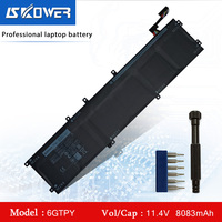 Laptop Battery For Dell XPS 15 9560 9570 Replacement Battery 6GTPY 5041C 5D91C 5XJ28 H5H20 97Wh + Free Tool