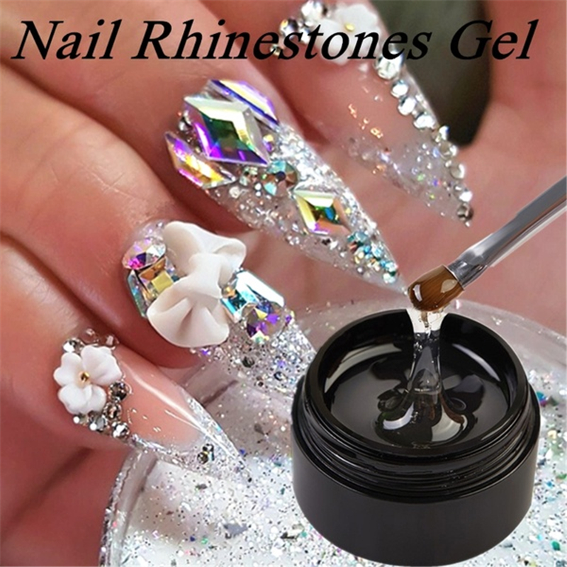 Nail Art Rhinestone Gel Glue Super Sticky Adhesive UV Gel Nail Polish Glue For DIY Nail Art Crystal Gems Jewelry Decoration