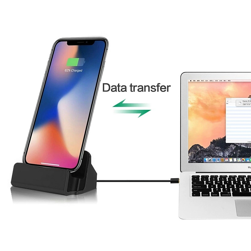 Image 3 - 2 in 1 USB Cable Data Phone Charger Dock Stand Station Charging For iPhone X XS Max XR 6 6S 7 8 Plus 5 SE Docking Desktop Cradle-in Mobile Phone Chargers from Cellphones & Telecommunications