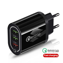 Fast Charger 3 USB Quick Charge QC3.0 5V/3A EU/US for iPhone Xiaomi Portable Phone Charging Adapter
