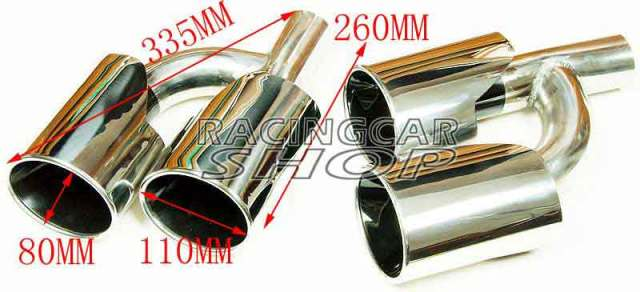 Exhaust tips for Mercedes Benz AMG S65 S63 C-class E-class S-class M-class W221 W212 W204 W219 W218 W208 W209 W164 R171 R1 M091W 5